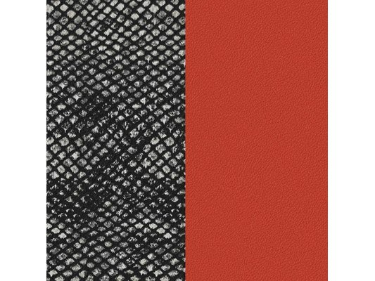 Les Georgettes | Cuir | Manchette | Motif Brique / Reptile PM