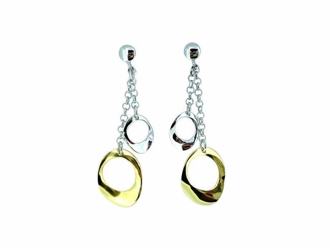 Loumya Silver | Boucles d'Oreilles | Argent | Bicolore