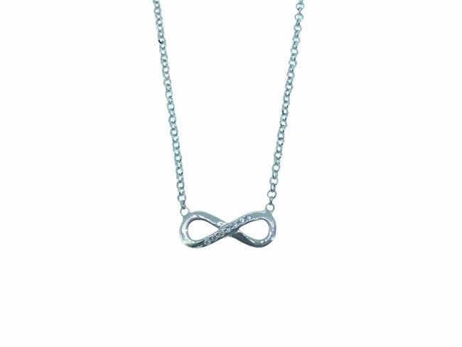 Loumya Silver | Collier | Argent | Oxyde de Zirconium | Infini