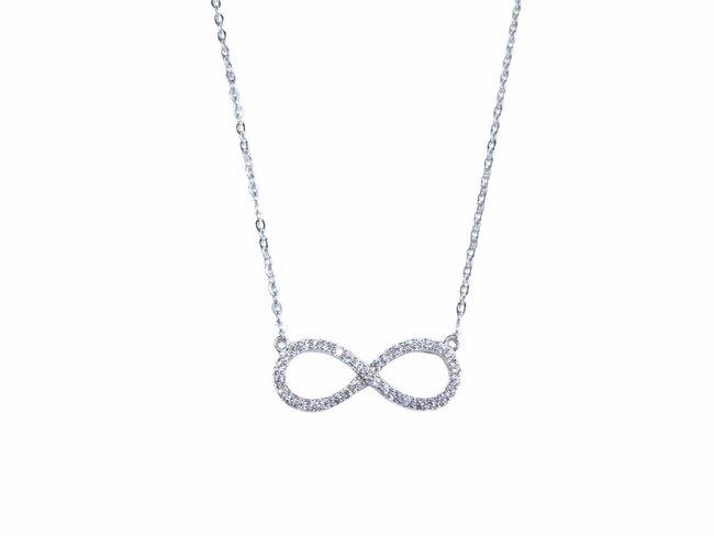 Loumya Silver | Collier | Argent | Oxyde de Zirconium | Infinity