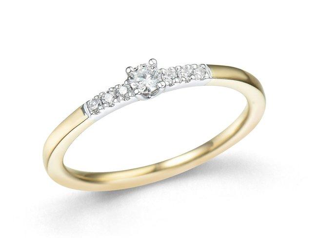 Emmilou 18K | Bague | Or Jaune | Bicolore | Diamants | R140