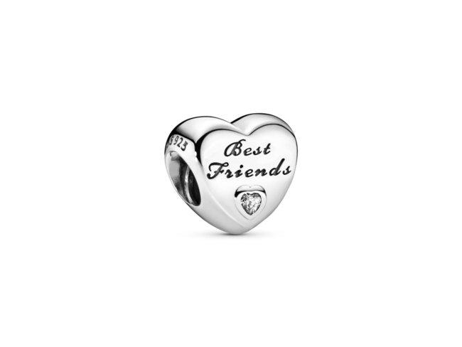 Pandora   Charm   Cœur Meilleures Amies   791727CZ